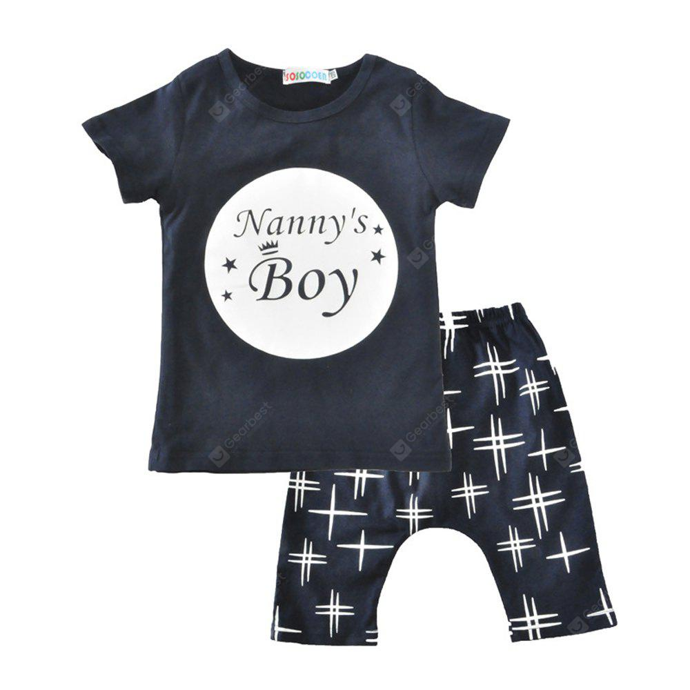 838e4d4ce SOSOCOER Kids Boys and Girls Clothes Set Letter Short Sleeved T ...
