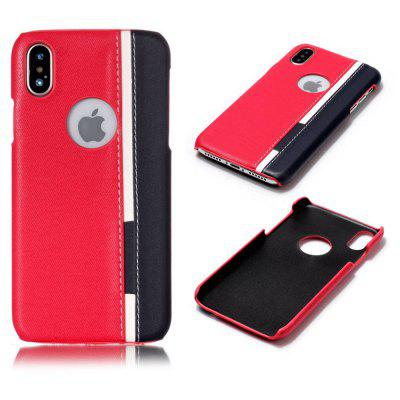 Custodia nera per iPhone X Twill Tone Retro Back Shell