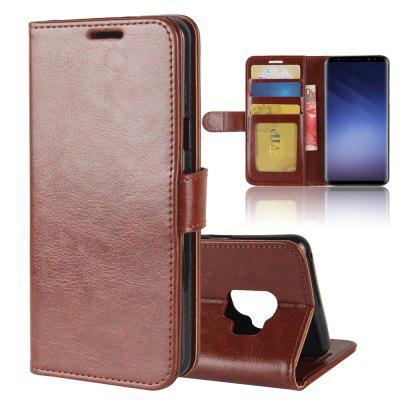 Durable Crazy Horse Pattern Back Buckle Flip PU Leather Wallet Case for Samsung Galaxy S9