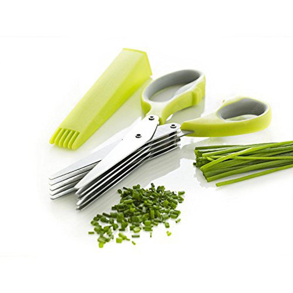Herb Scissors Multipurpose Kitchen Mincing Shear 5 Blades and Cover Stainless Steel za $1.49 / ~5.50zł