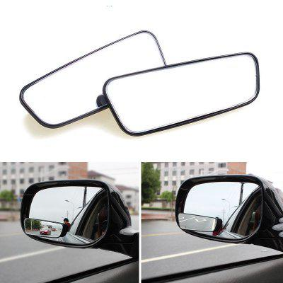 2pcs/set Adjustable Rectangle Car Blind Spot Mirror Auto Rear Views Glass Auxiliary Wide Angle Lens Convex