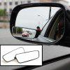 2pcs/set Adjustable Rectangle Car Blind Spot Mirror Auto Rear Views Glass Auxiliary Wide Angle Lens Convex - BLACK