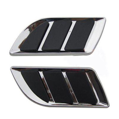 2pcs Universal Car Decorative Stickers ABS Air Flow Intake Scoop Vent Cover Hood Auto  Modification Accessory