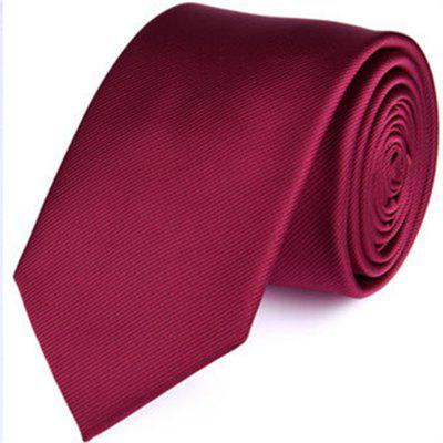 New fashion business tie men's pure color twill