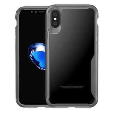 Custodia per iPhone X Slim Transparent PC + TPU Silicone