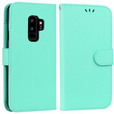 Cover Case For Samsung Galaxy S9 Solid Color Pattern PU Leather Wallet Case