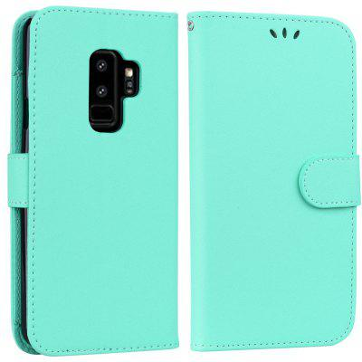 Cover Case For Samsung Galaxy S9 Plus Solid Color Pattern PU Leather Wallet Case
