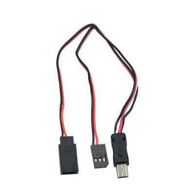 Gopro 3 USB TO AV Video Output and 5V Power DC(BEC) Input Wire Cable Plug