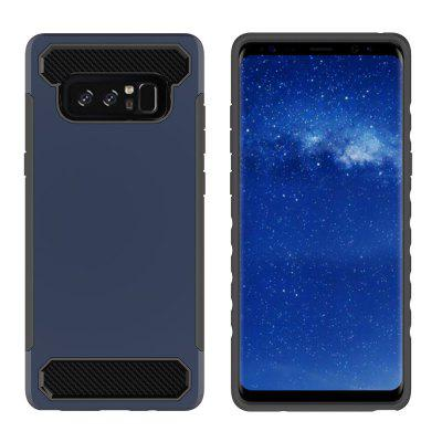 for Samsung Galaxy Note 8 Shockproof  Hard PC Flexible TPU Laminated Carbon Fiber Chrome Anti-scratch Protective  Case