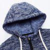 Autumn and Winter Casual Hooded Cardigan Slim Fashion Jacket - BLUE