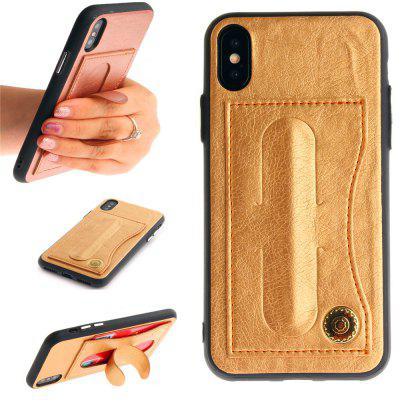 Leather Bracket Insert Card Cell Phone Shell For iPhone X Cases Cover Extravagant Fashion Phone Case