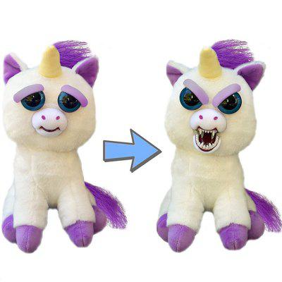Feisty Pets Change Face Animal Stuffed Plush Unicorn Interactive Toy