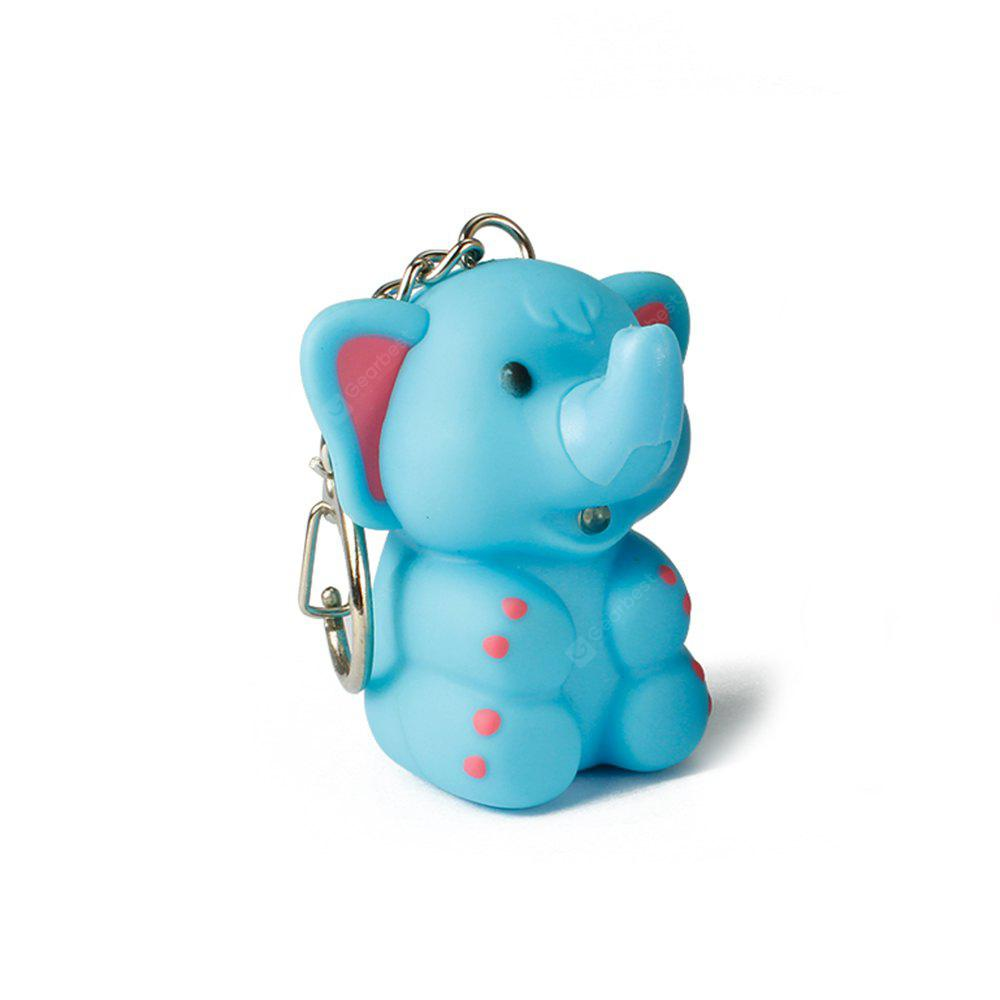 Elephant Cute Key Hanging Decorations Lighting Vocal Small Animals Keyring
