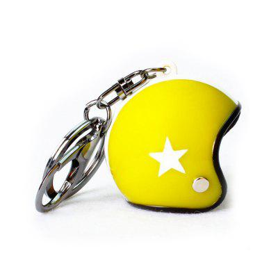Creative Cute Motorcycle Helmet Vietnam Small Tintin Hat Car Key Chain