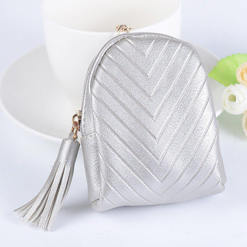 Beautiful Small Backpack Pendant Leather Tassel Purse Car Key Ring