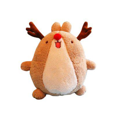 Rabbit Doll Christmas Deer Sculpt Plush Toys Present for Kids