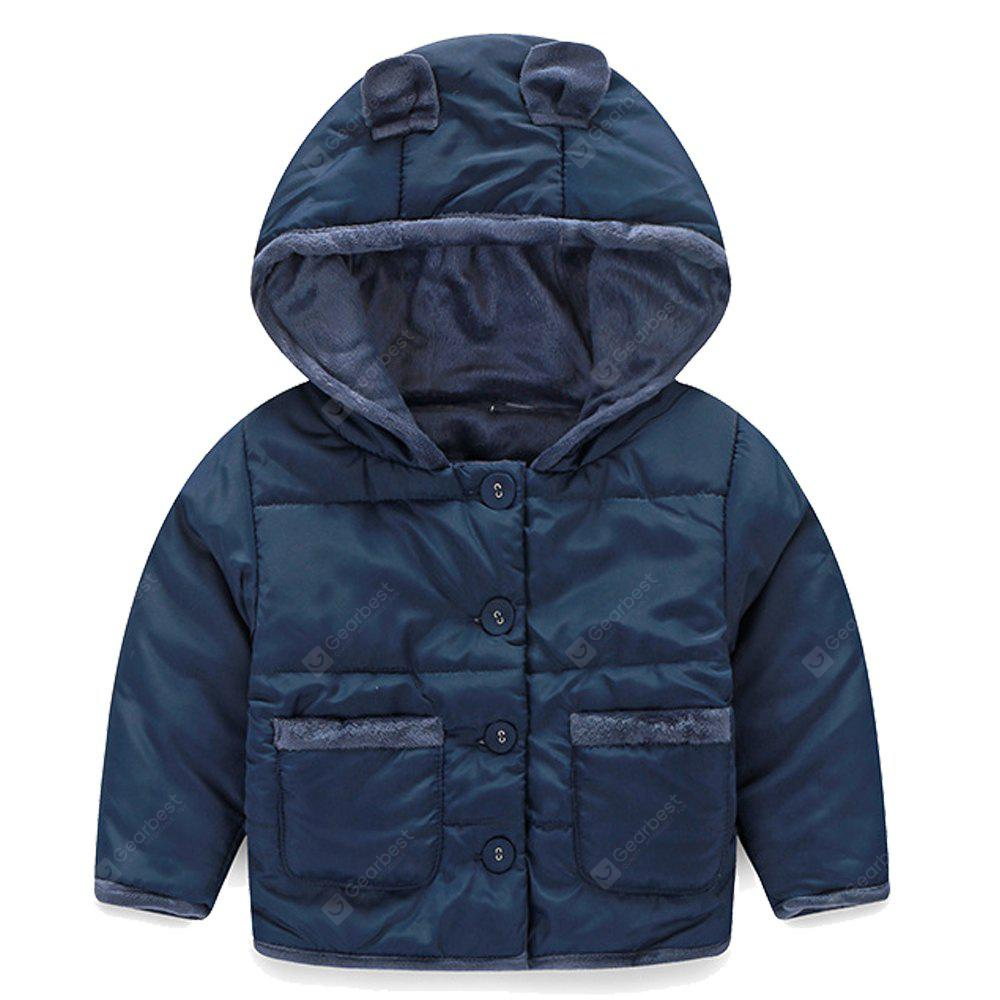 Baby Clothes Autumn and Winter Coat Winter Boy and Girl Plus Velvet Padded Jacket