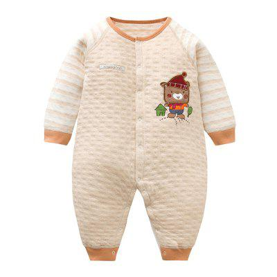 Spring Colored Cotton Baby Clothes Button Snap Closed Crotch Siamese