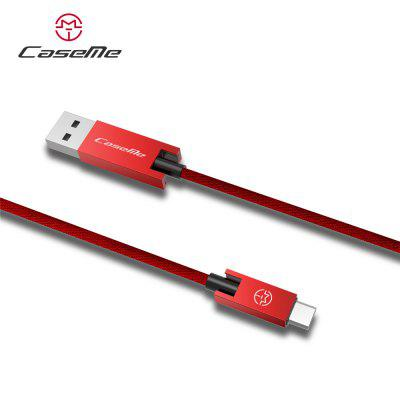 CaseMe Type-C Phone Data Fast Charging Cable 1.2MChargers &amp; Cables<br>CaseMe Type-C Phone Data Fast Charging Cable 1.2M<br><br>Accessories type: Cable<br>Cable Length (cm): 120<br>Interface Type: USB Type-C<br>Material ( Cable&amp;Adapter): Fabric, Aluminum Alloy<br>Package Contents: 1 x Cable<br>Package size (L x W x H): 8.00 x 2.30 x 13.00 cm / 3.15 x 0.91 x 5.12 inches<br>Package weight: 0.0560 kg<br>Type: Cable