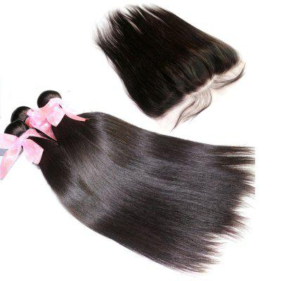 Silky Straight 100 Percent Brazilian Virgin Hair Weave 3pcs with 1pc Lace FrontalHair Weaves<br>Silky Straight 100 Percent Brazilian Virgin Hair Weave 3pcs with 1pc Lace Frontal<br><br>Can Be Permed: Yes<br>Chemical Processing: None<br>Color: Natural Black<br>Color Type: Pure Color<br>Hair Grade: 6A+ 100% Unprocessed Virgin Hair<br>Hair Quality: Virgin Hair<br>Hair Weft: Machine Double Weft<br>Material: Human Hair<br>Package Contents(pcs): 3 x Hair Weave, 1 x Lace Frontal<br>Package size (L x W x H): 20.00 x 10.00 x 5.00 cm / 7.87 x 3.94 x 1.97 inches<br>Package weight: 0.4200 kg<br>Part Design: Free Part<br>Source: Peruvian Hair<br>Style: Straight<br>Type: Human Hair Weaves