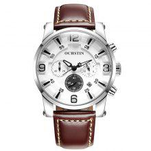 OCHSTIN GQ052D Men Leather Quartz Sport Multifunction Wrist Watch