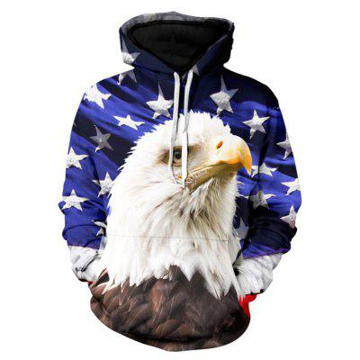 3D Leisure All-Match Eagle Stamp Hoodie