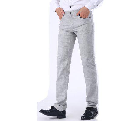 Slim And Straight Micro Elastic PantsMens Pants<br>Slim And Straight Micro Elastic Pants<br><br>Closure Type: Zipper Fly<br>Color: Gray<br>Elasticity: Micro-elastic<br>Fabric Type: Broadcloth<br>Fit Type: Straight<br>Front Style: Flat<br>Length: Normal<br>Material: Acetate<br>Package Contents: 1XPants<br>Package size (L x W x H): 1.00 x 1.00 x 1.00 cm / 0.39 x 0.39 x 0.39 inches<br>Package weight: 1.0000 kg<br>Pant Style: Straight<br>Pattern Type: Solid<br>Product weight: 1.0000 kg<br>Style: Casual<br>Thickness: Standard<br>Waist Type: Mid<br>Wash: Medium<br>With Belt: No