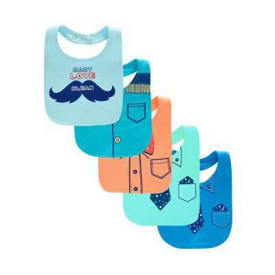 Wuawua  Comfortable Cotton Baby Bib 5pcs