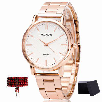 ZhouLianFa New Models Rose Gold Steel Ladies Luxury Quartz Watch with Gift Box and Beads