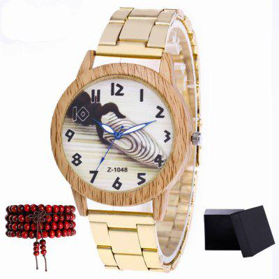 ZhouLianFa The New Brand of Gold Strip Bullet Figure Ladies Case Luxury Quartz Watch with Gift Box and Beads