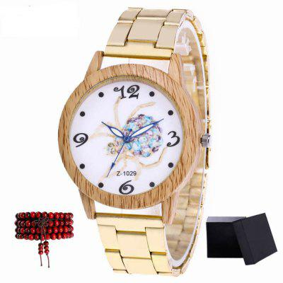 ZhouLianFa New Gold Spider Tape Quartz Watch with Gift Box and Beads