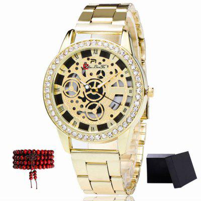 ZhouLianFa The New Brand of Gold with A Diamond-Studded Quartz Watch with Beads and Beads