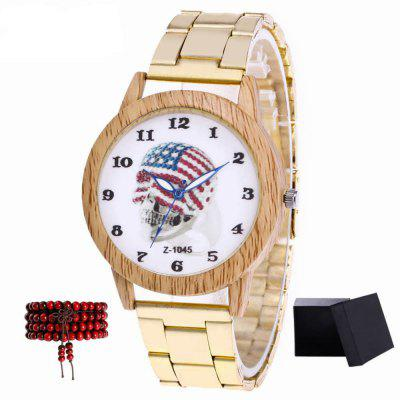ZhouLianFa New Gold Band Devil Quartz Watch with Gift Box and Beads