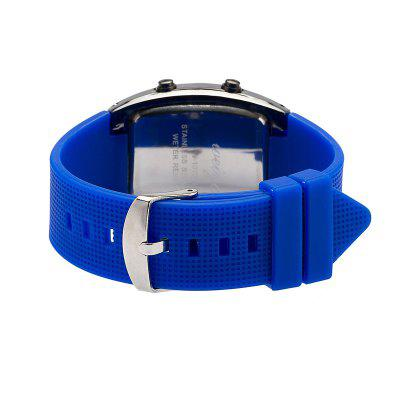 V5 Sports Watch Jelly Color LED Silica Gel Student Electronic Wrist WatchMens Watches<br>V5 Sports Watch Jelly Color LED Silica Gel Student Electronic Wrist Watch<br><br>Band material: Silicone<br>Band size: 26 x 2.2cm<br>Case material: Stainless Steel<br>Clasp type: Buckle<br>Dial size: 3.8 x 5.8 x 1.1cm<br>Movement type: Digital watch<br>Package Contents: 1 x Watch<br>Package size (L x W x H): 26.00 x 5.50 x 1.50 cm / 10.24 x 2.17 x 0.59 inches<br>Package weight: 0.0850 kg<br>Product size (L x W x H): 26.00 x 3.80 x 1.10 cm / 10.24 x 1.5 x 0.43 inches<br>Product weight: 0.0800 kg<br>Shape of the dial: Rectangle<br>Watch style: Fashion, Casual, Business, Retro, LED<br>Watches categories: Men