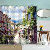 Oil Painting City 5 Polyester Shower Curtain Bathroom  High Definition 3D Printing Water-Proof - COLORMIX