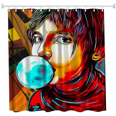 Anime Man God Polyester Shower Curtain Bathroom  High Definition 3D Printing Water-Proof