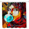 Anime Man God Polyester Shower Curtain Bathroom  High Definition 3D Printing Water-Proof - COLORMIX