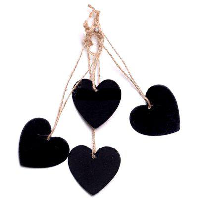 160203 Heart Shaped Small Blackboard Love Wood Home Party Decoration Tag (10 Pcs)