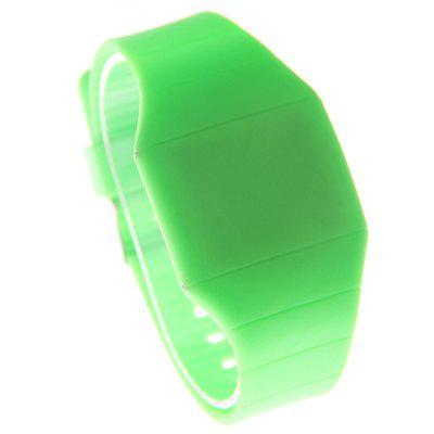 LED Silicone Electronic Ultra-Thin Touch Screen Watch