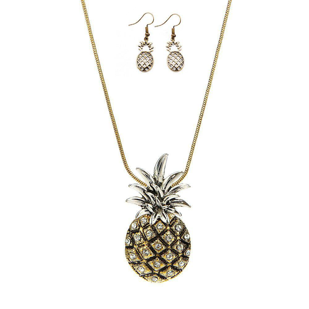 New Fashion Pineapple Necklace Alloy Set Chain
