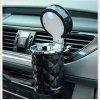 1PC Diamond LED Car Ashtray High Quality Universal Ashtray Cigarette for Gift Cigarette Cigar - BLACK