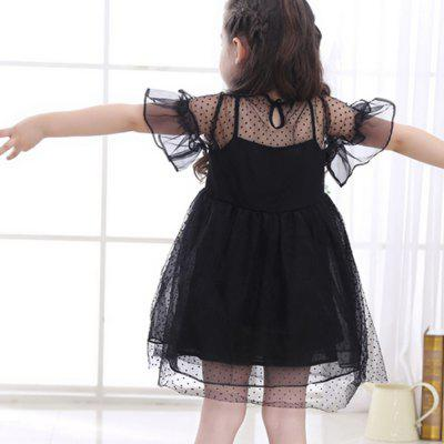 New Wave Point Fluffy Dress for Girl new