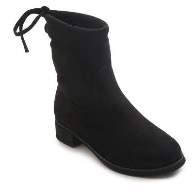 Stretch Cloth Velvet Rough Flat Boots