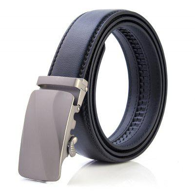 Men Casual Fashion Automatic Buckle Leather Belt