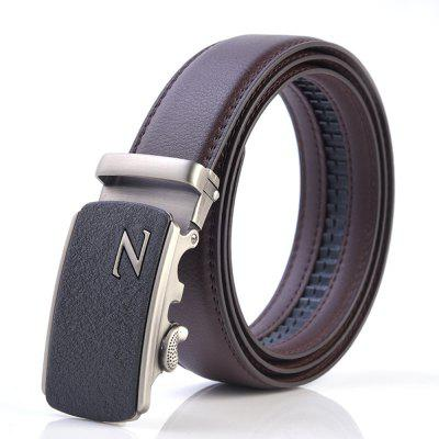 Fashion Men Automatic Buckle Casual BusinessLeather Belt