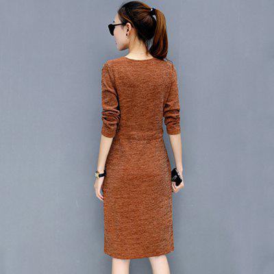 Thick Waist Lace Knitted Color Split Backing Sweater DressSweater Dresses<br>Thick Waist Lace Knitted Color Split Backing Sweater Dress<br><br>Dresses Length: Knee-Length<br>Elasticity: Super-elastic<br>Fabric Type: Woolen<br>Material: Cotton Blend<br>Neckline: V-Neck<br>Package Contents: 1 x Dress<br>Pattern Type: Solid<br>Season: Spring<br>Silhouette: A-Line<br>Sleeve Length: Long Sleeves<br>Style: Cute<br>Weight: 0.3500kg<br>With Belt: Yes