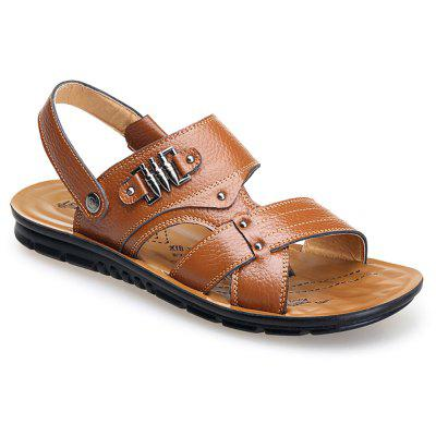 Antiskid Cowhide Leather Sandals