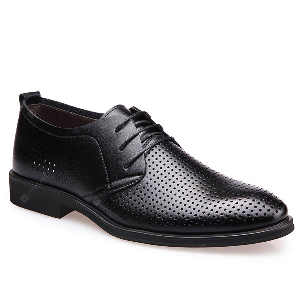 Hollowed Business Leather Shoes