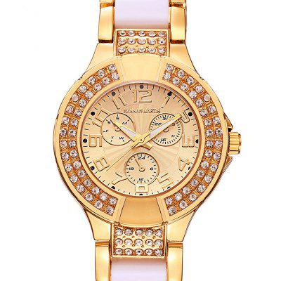 Women Double-row Diamond White Ceramic Steel Band Fashion Wrist WatchWomens Watches<br>Women Double-row Diamond White Ceramic Steel Band Fashion Wrist Watch<br><br>Available Color: Rose Gold,Silver<br>Band material: Ceramic + alloy<br>Band size: 22 x 2cm<br>Brand: Hannah Martin<br>Case material: Zinc Alloy<br>Clasp type: Folding clasp with safety<br>Dial size: 4 x 4 x 0.85cm<br>Display type: Analog<br>Features: Double-row Diamond Steel Ceramics Band<br>Movement type: Quartz watch<br>Package Contents: 1 x Quartz Watch<br>Package size (L x W x H): 15.00 x 5.00 x 10.00 cm / 5.91 x 1.97 x 3.94 inches<br>Package weight: 0.1200 kg<br>Product size (L x W x H): 22.00 x 4.00 x 0.85 cm / 8.66 x 1.57 x 0.33 inches<br>Product weight: 0.1050 kg<br>Shape of the dial: Round<br>Special features: IP plating, Decorative sub-dial<br>Watch color: Rose Gold / Silver<br>Watch mirror: Mineral glass<br>Watch style: Fashion, Classic<br>Watches categories: Women<br>Water resistance: 30 meters