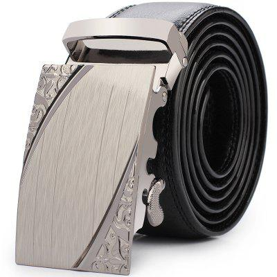 Men'S Casual Automatic Buckle Leather Belt Fashion Belt of Leather Business Fashion Belt.